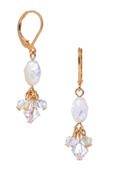 Andrea Drop Earring - White Mother of Pearl