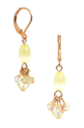 Andrea Drop Earring - Yellow Cats Eye