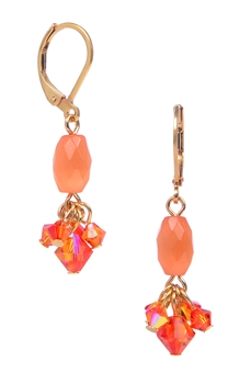 Andrea Drop Earring - Orange Cats Eye