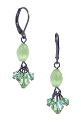 Andrea Drop Earring - Peridot Cats Eye