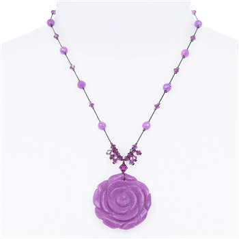 Andrea Necklace - Radiant Orchid Quartz