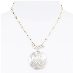 Andrea Necklace - White Mother of Pearl