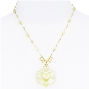 Andrea Necklace - Yellow Cats Eye
