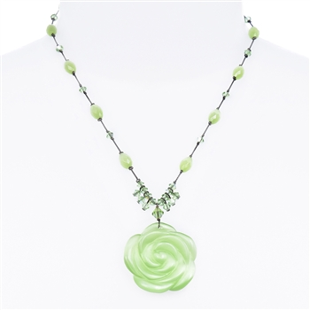 Andrea Necklace - Peridot Cats Eye