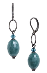 Ashley Drop Earring - Teal Jade
