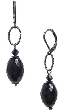 Ashley Drop Earring - Black Onyx