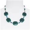 Ashley Necklace - Teal Jade