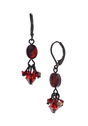 Allison Drop Earring - Red Abalone