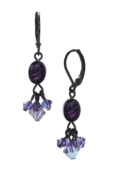 Allison Drop Earring - Purple Abalone