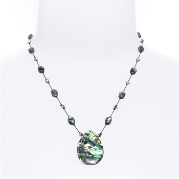 Allison Pendant Necklace - Natural Abalone