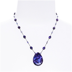 Allison Pendant Necklace - Purple Abalone