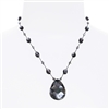 Allison Pendant Necklace - Black Luster Abalone