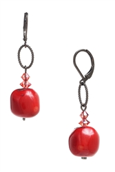 Brianna Drop Earring - Coral