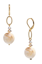 Brianna Drop Earring - Ivory Shell