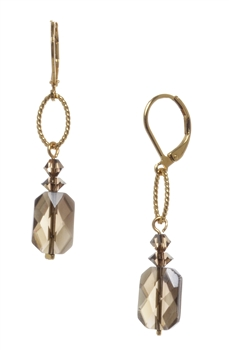 Brianna Drop Earring - Smokey Quartz