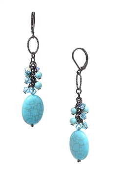 Brianna Long Earring - Turquoise