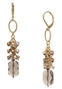 Brianna Long Earring - Smokey Quartz