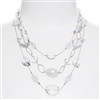 Brianna Tier Necklace -  Crystal Mix