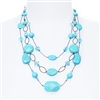 Brianna Tier Necklace -  Turquoise