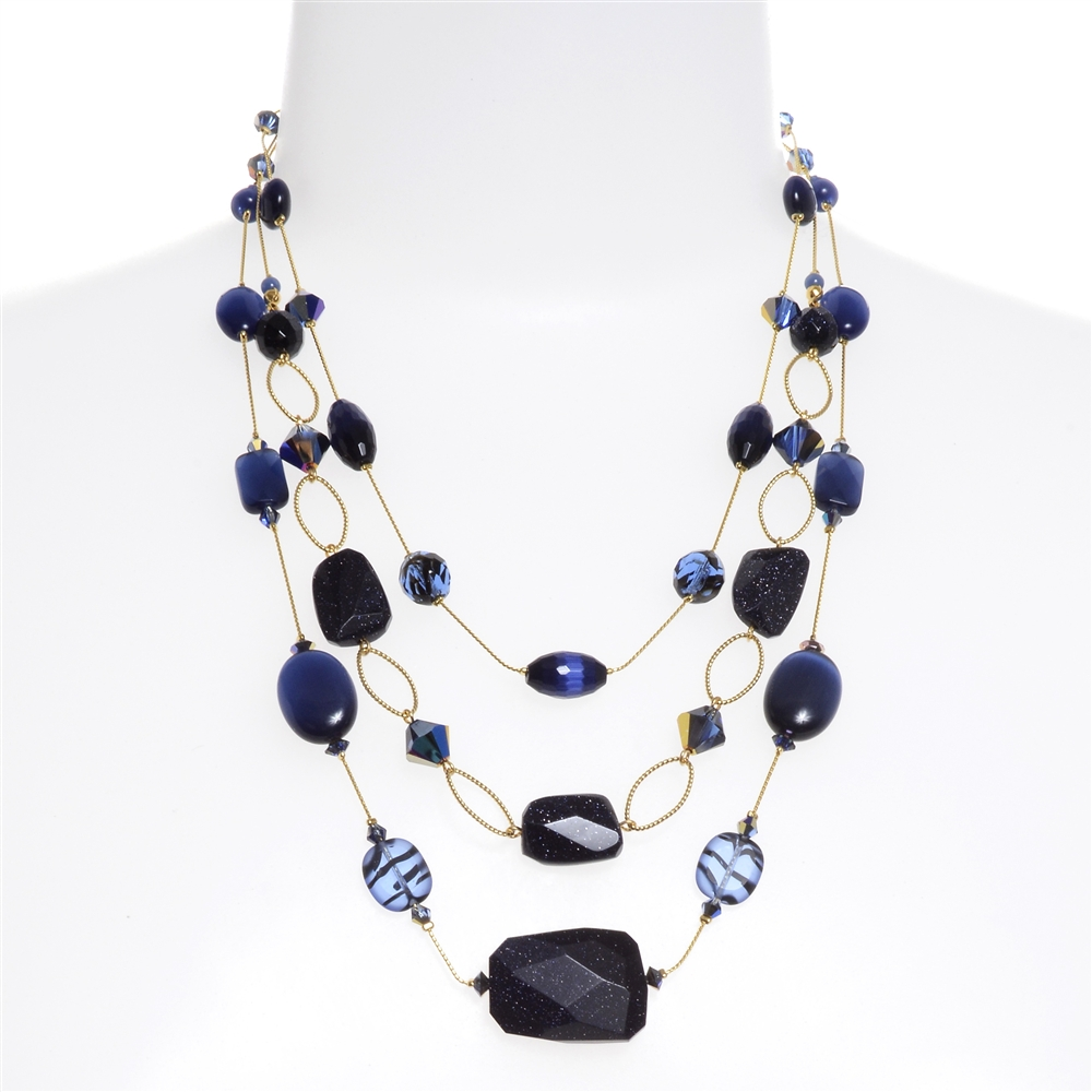 necklace marcella tiered necklaces kona modern design shop