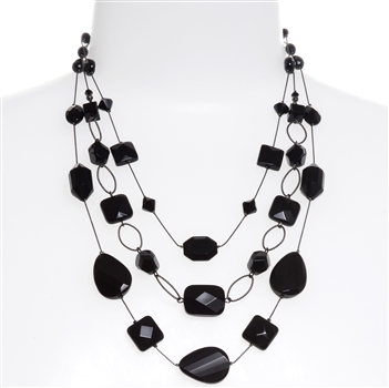 Brianna Tier Necklace - Jet