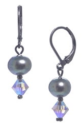 Clansy Pearl Drop Earring - Gray