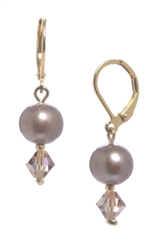 Clansy Pearl Drop Earring - Champagne