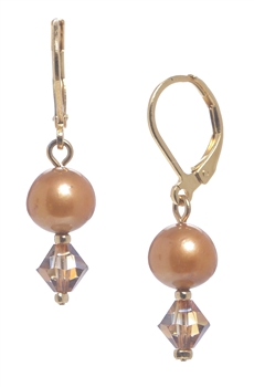Clansy Pearl Drop Earring - Copper