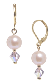 Clansy Pearl Drop Earring - Soft Pink
