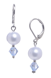 Clansy Pearl Drop Earring - Light Blue
