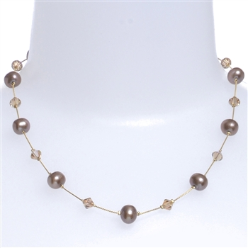 Clansy Pearl Necklace - Champagne