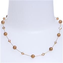 Clansy Pearl Necklace - Copper