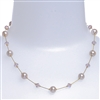 Clansy Pearl Necklace - Soft Pink