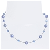 Clansy Pearl Necklace - Light Blue