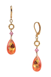 Carrie Drop Earring - Orange / Pink