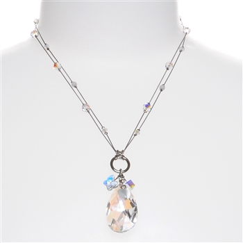 Carrie Necklace - Crystal