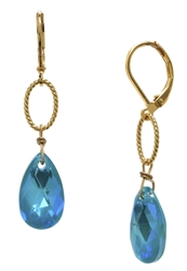 Elizabeth Drop Earring - Teal