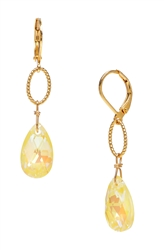 Elizabeth Drop Earring - Yellow