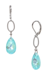 Elizabeth Drop Earring - Aqua