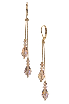Felicia Double Dangle Earring - Light Colorado Topaz