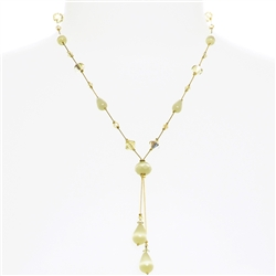 Felicia Necklace - Soft Yellow