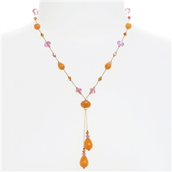 Felicia Necklace - Orange Pink