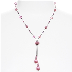 Felicia Necklace - Pink