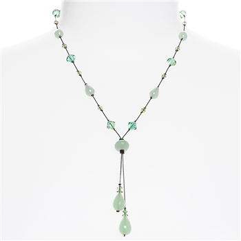 Felicia Necklace - Mint Green