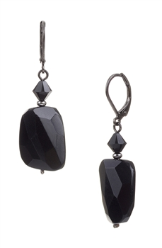 Giselle Drop Earring - Black Onyx