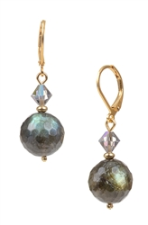 Giselle Drop Earring - Grey Iridescent