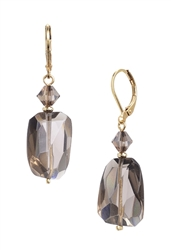 Giselle Drop Earrings - Smokey Quartz