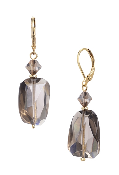 Smoky Quartz Gemstone Earring