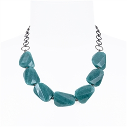 Giselle Necklace - Teal Jade