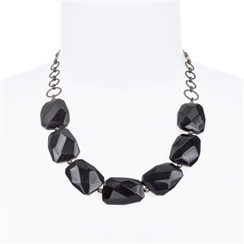 Giselle Necklace - Black Onyx